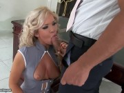 Backstage With Blonde Bombshell Cristal Fucking With Two Big Dicked Ex Boyfriends