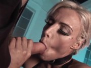 The Blond Bombshell Brooke Jameson Juices Out Man Gunk With Hot Sucking