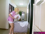 Horny Alli And Hot Tara Loves To Suck Big Cock On Hotel Bed