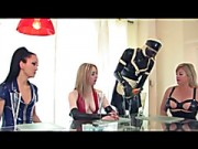 Dominas In Latex Torture Their Thrall