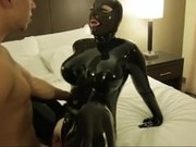 Husband Has Sex With His Wife In Full Latex