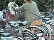 Babe In A Short Skirt Got Sharked When Going For A Bicycle