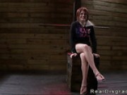 Big Tits Redhead Velma DeArmond In Bdsm With Gag Ball In Mouth Roughly Fucked