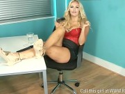 Lola Lawson Shows Off Her Sexy Legs In Office