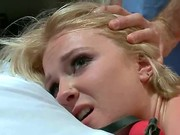 Busty Blond Devon Taylor Does Her First Ever Sex Scene With James Deen In This Erotic Nightmarish Fantasy Role Play. She Gets Slapped By His Leather Whip.