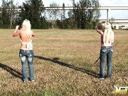 Two Hot Blonde Girls Molly Cavalli