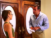 Pretty Chick In Sexy Glasses Riley Reid And Her New Boss Steven St. Croix