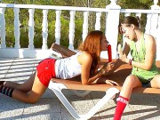 Two Young Pretty Shameless Harlots Ivana  Vika Make An Outdoor Fuck With A Dildo