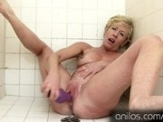 Her Own Cum Dripping From Her Mature Pussy