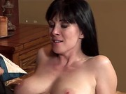 The Young Attractive Pornstar Johnny Castle Seduces His Friends MILF Mom RayVeness With A Big Natural Boobies. He Starts To Kiss Her Lovely Lips And Helps To Undress. They Look Very Happy.
