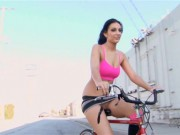 Babe On A Bike Gets Her Sweet Beaver Banged