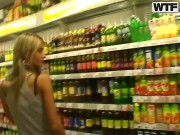 Slim Blonde Chick Nessa Devil Strolls Trhough A Store While Her Lover Is Recording Her Lovely Tits And Her Fine Ass Preparing Himself For Some Wild Sex In The Car.