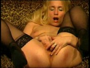 Longhaired Blonde Rubbing