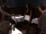 Sexy Ebony Waitress Leilani Leeanne Has