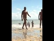 Monster Cock Flopping On Nudist Beach