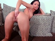Solo Girl Aliz Inserts Black Hose In Her Pink Pussy And Then In Her Flexy Asshole. She Fucks Herself With Her Toy And Then Gives Anal Fisting A Try. Watch Naughty Brunette Have Fun.
