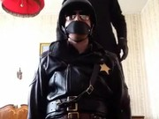 Gloved Job For Leather Cop!